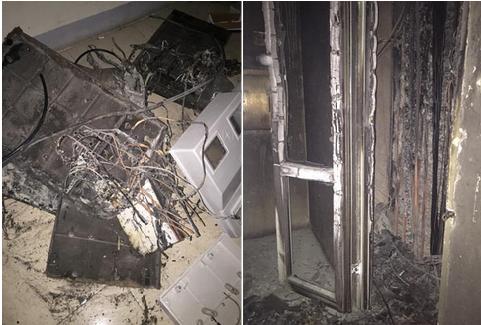 Cháy trạm điện chung cư ở khu vực tầng 1 khiến 1 bé trai kẹt trong thang máy