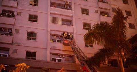 Làm gì khi chung cư bạn ở đang cháy?.Ảnh minh họa.