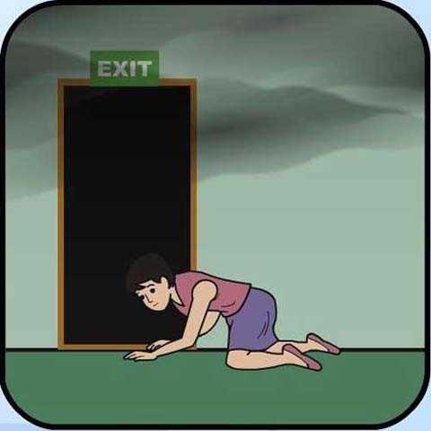 Cách di chuyển đúng để tránh hít phải khói.