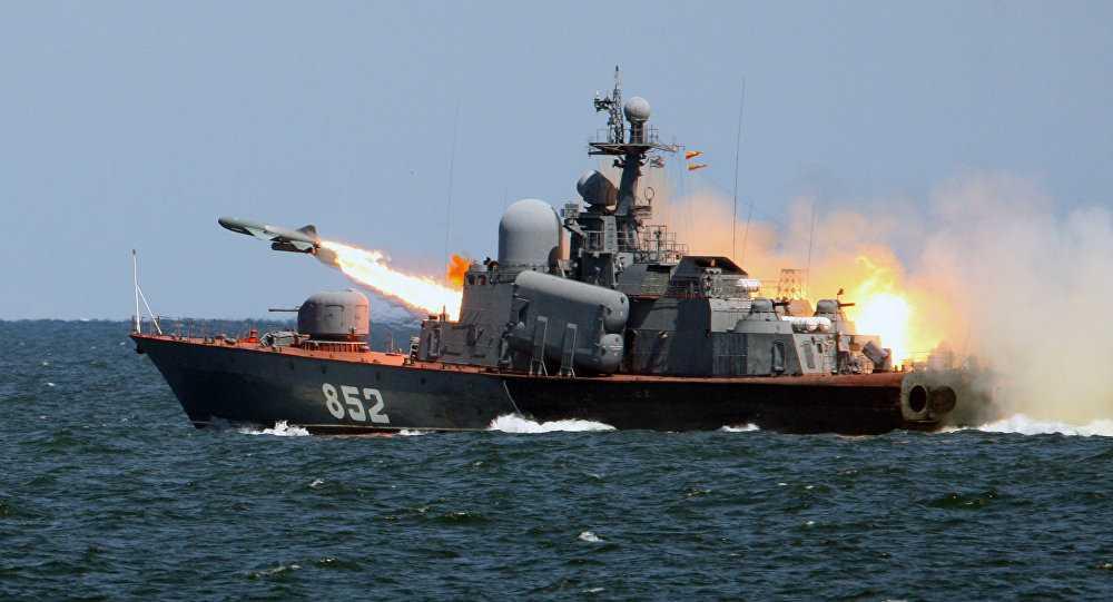 Chiến hạm Nga phóng tên lửa