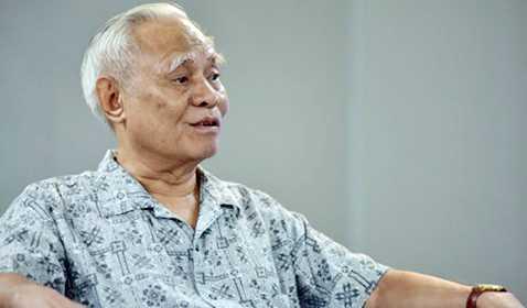 Ông Lê Quang Thưởng - Nguyên Phó Trưởng ban Thường trực Ban Tổ chức Trung ương trao đổi về công tác cán bộ (Ảnh: VOV)