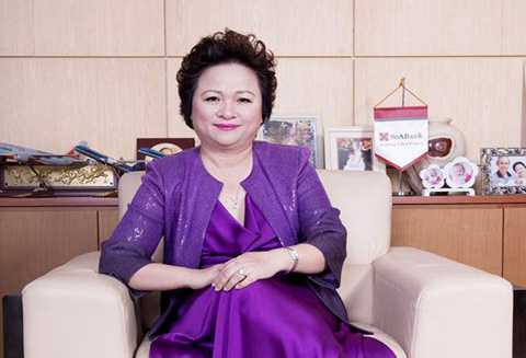 Doanh nhân Nguyễn Thị Nga là nhân vật nổi tiếng ngành ngân hàng.