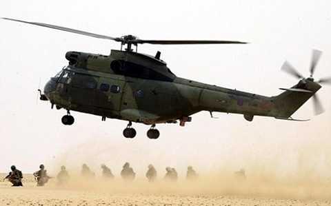 Trực thăng Puma Mk2, cùng loại với chiếc vừa gặp nạn ở Afghanistan