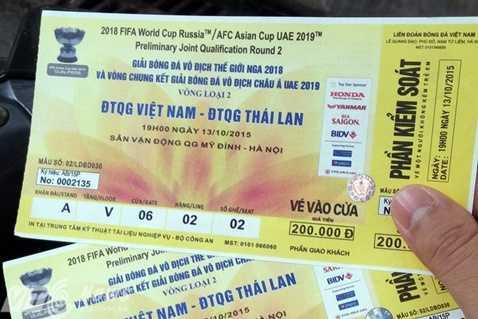 Vé xem Việt Nam - Thái Lan không sốt như dự đoán