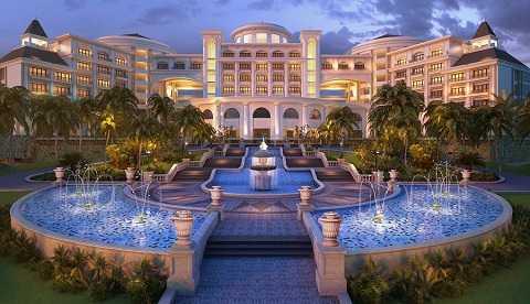 Khu nghỉ dưỡng sang trọng với kiến trúc Hoàng gia châu Âu nổi bật trên đảo Rều