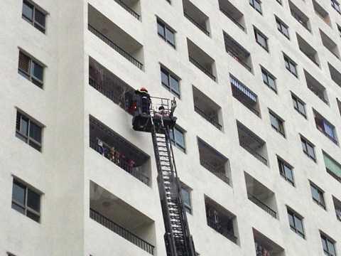Chưa có nghiệm thu PCCC, tòa nhà HH4A Linh Đàm vẫn đón 'thượng đế' vào ở. (Ảnh: VIetnam+)