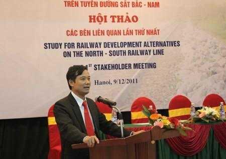 Phó tổng giám đốc Tổng công ty Đường sắt VN Trần Quốc Đông. Ảnh: Tiền phong