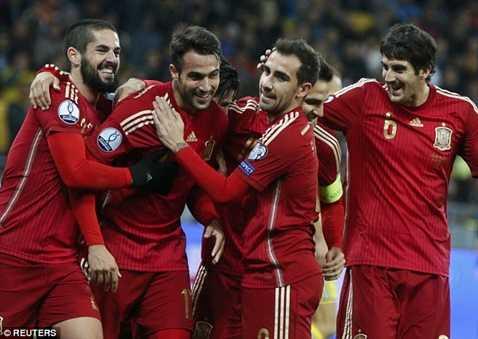 Tây Ban Nha có chiến thắng tối thiểu trước Ukraine
