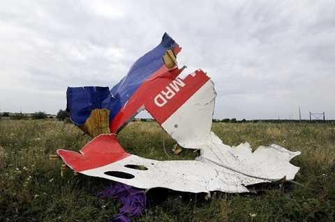 Mảnh vỡ máy bay mang số hiệu MH17 của Malaysia Airlines
