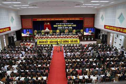 Sáng 13/10, tại TP.Tam Kỳ, Đại hội Đại biểu lần thứ XXI Đảng bộ tỉnh Quảng Nam đã chính thức khai mạc