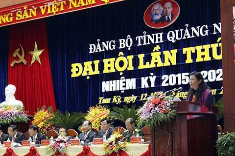 Phó Chủ tịch Quốc hội Tòng Thị Phóng phát biểu chỉ đạo tại Đại hội
