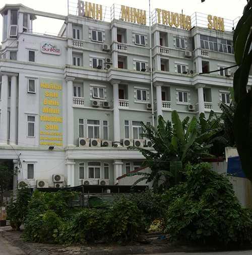 Khách sạn Bình Minh Trường Sơn nơi xảy ra vụ việc