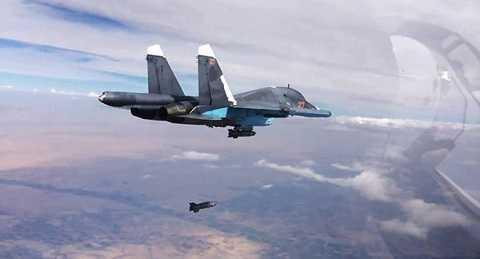 Máy bay chiến đấu của Nga trên không phận Syria