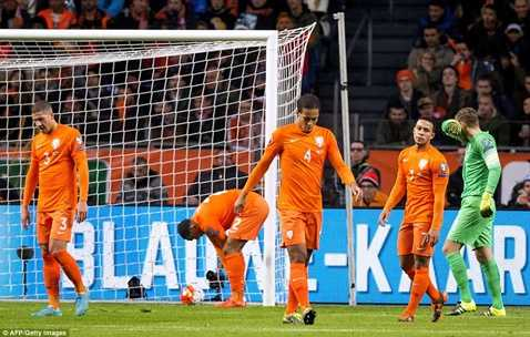 Thua sốc CH Czech, Hà Lan chính thức ngồi ngoài ở Euro 2016