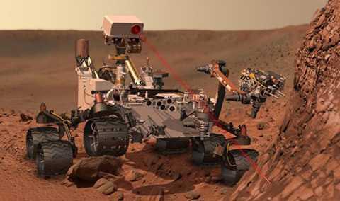 Rô-bốt thăm dò Curiosity được NASA phóng lên sao Hỏa năm 2011 để có thể nghiên cứu sâu hơn hành tinh này. (ảnh: Telegraph)