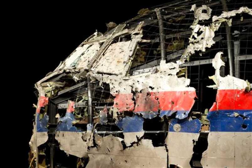 Phần buồng lái của MH17 được khôi phục từ các mảnh vỡ