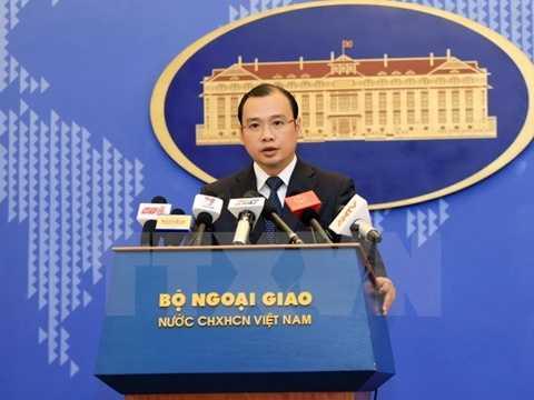 Người phát ngôn Bộ Ngoại giao Việt Nam Lê Hải Bình phát biểu. (Ảnh: Doãn Tấn/TTXVN)