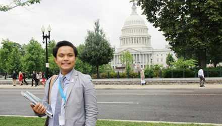 Phạm Nguyễn Đăng Trình, sinh viên Đại học Fullerton bangCalifornia (Mỹ).