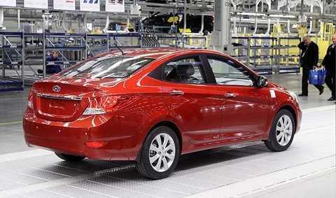 Hyundai Solaris đạt mốc 1 triệu xe xuất xưởng tại Nga hôm 13/10