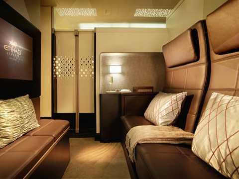 Khoang hạng nhất của hãng hàng không Etihad Airways