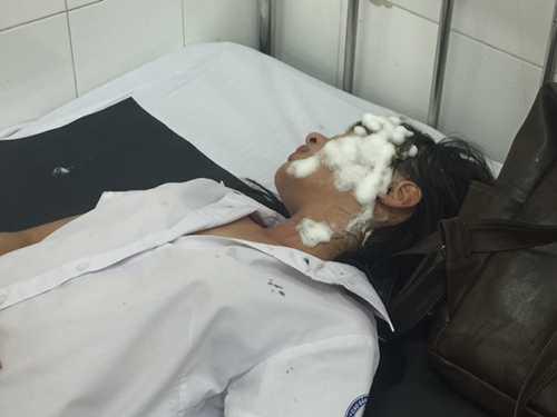 Chị Vũ Thị H đang điều trị tại bệnh viện