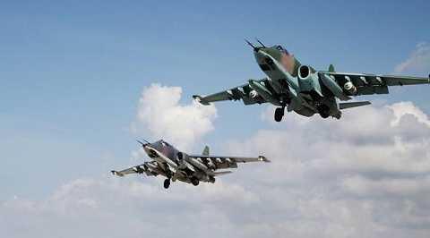 Máy bay Nga không kích tiêu diệt IS ở Syria