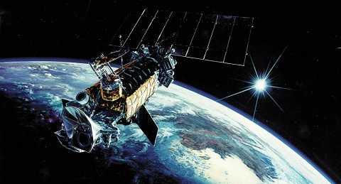 Một vệ tinh giám sát trong không gian