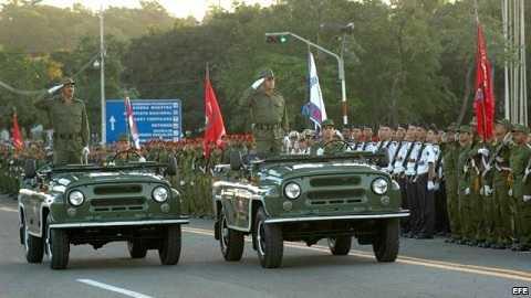 Lực lượng vũ trang Cuba duyệt binh
