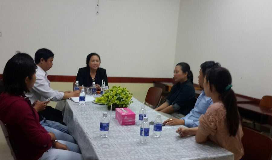 Hiệu trưởng trường VAS họp với đại diện hội phụ huynh
