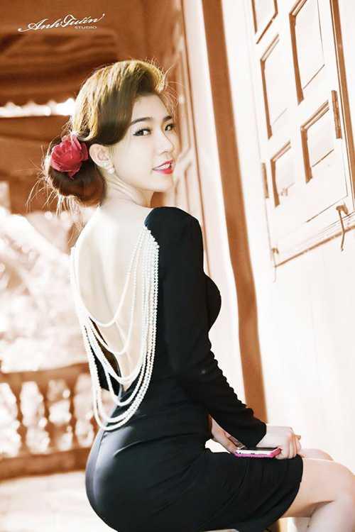 Người đẹp Hoàng Y Nhung có ngoại hình gợi cảm