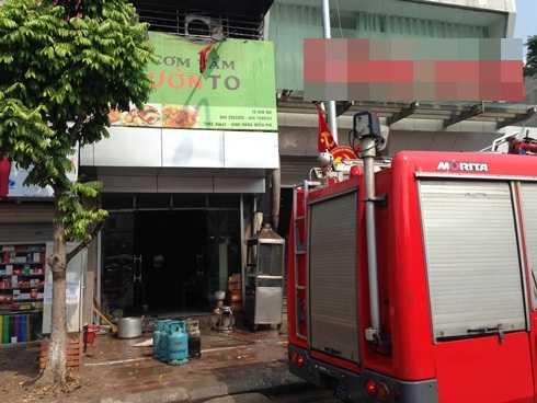 Hỏa hoạn xảy ra tại quán cơm tấm trên đường Kim Mã