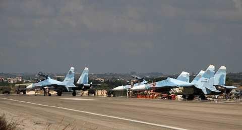 Máy bay chiến đấu của Không quân Nga tham gia không kích IS