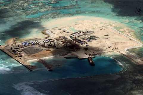 Ảnh vệ tinh cho thấy Trung Quốc cải tạo và xây dựng nhiều công trình kiên cố tại Đá Châu Viên thuộc quần đảo Trường Sa của Việt Nam