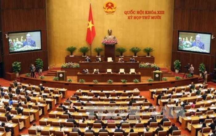 Phiên khai mạc kỳ họp Quốc hội thứ 10 (Ảnh: TTXVN)