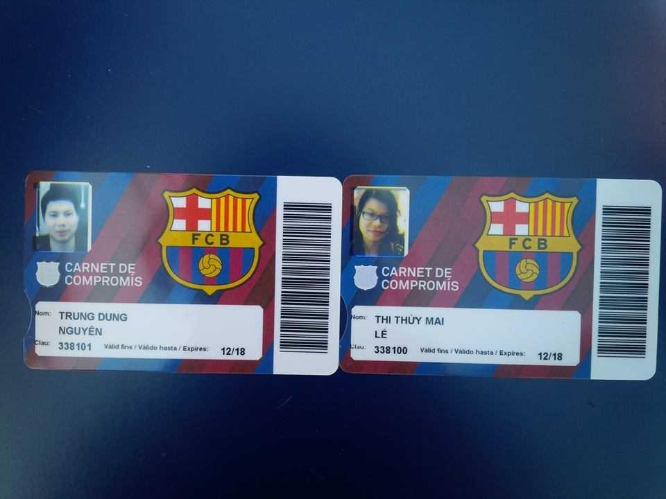 Thẻ hội viên chính thức của các CĐV Việt Nam (Ảnh: Thùy Mai)