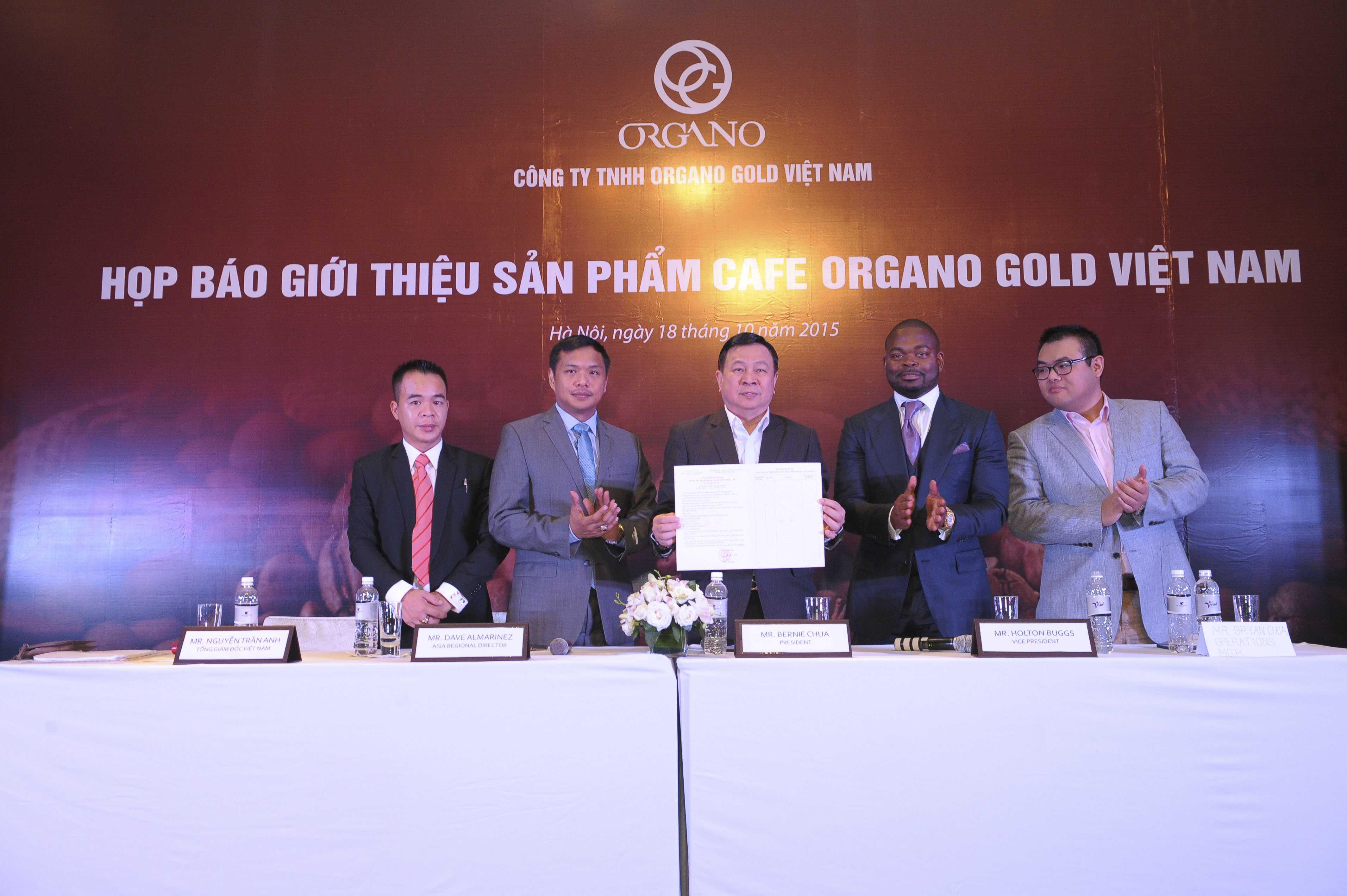 Buổi giới thiệu sản phẩm cà phê Organo Gold