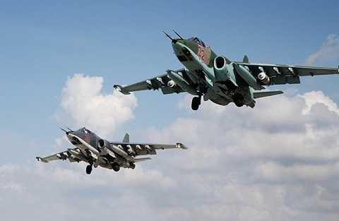 Các máy bay chiến đấu của Nga tham gia chiến dịch không kích tại Syria