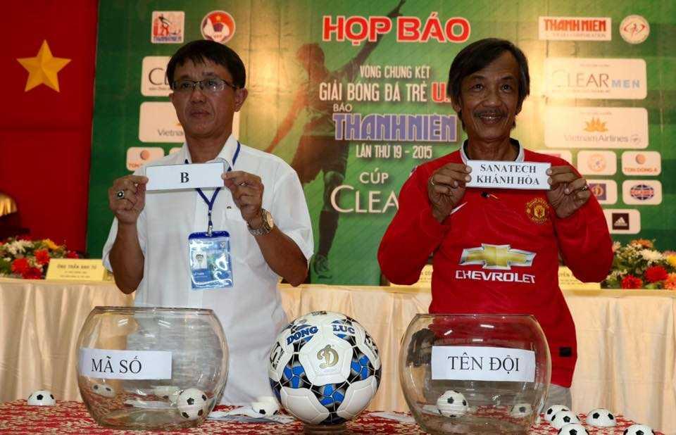 Bốc thăm chia bảng U21 Quốc gia (Ảnh: Quang Minh)