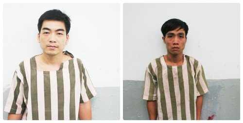 Hai đối tượng cướp giật tại cơ quan công an.