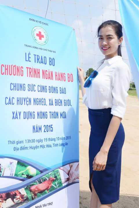 Sau khi bước ra khỏi Hoa hậu hoàn vũ Việt Nam 2015, Lệ Hằng tích cực tham gia các hoạt động từ thiện.