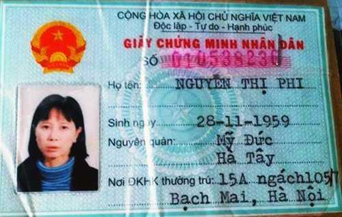 Nguyễn Thị Phi bị bắt khi nhập cảnh trái phép vào Việt Nam