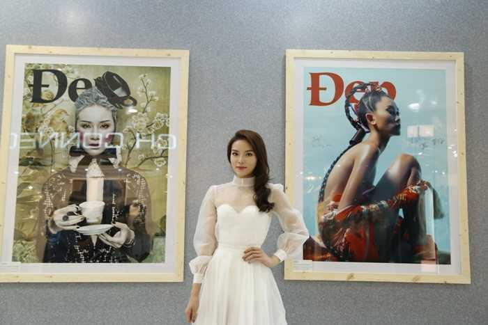 Hoa hậu Kỳ Duyên rạng ngời trong bộ váy trắng tinh khôi