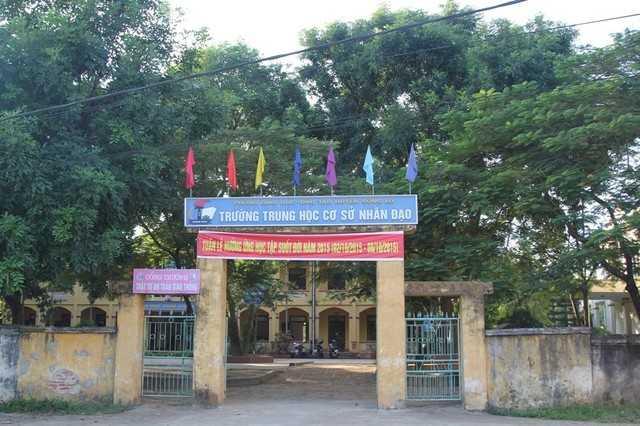 Trường THCS Nhân Đạo nơi xảy ra vụ việc