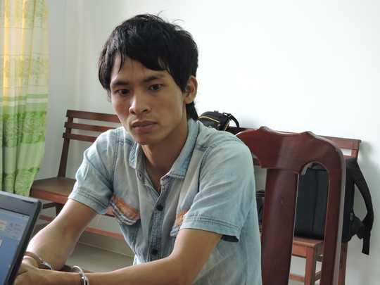 Trần Văn Điểm khi bị bắt tại cơ quan điều tra công an tỉnh Bà Rịa - Vũng Tàu