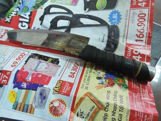 Con dao hung thủ dùng để giết chết anh Ngân tại TP Vũng Tàu