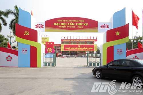 Cung Văn hóa Lao động Hữu nghị Việt - Tiệp Hải Phòng, nơi diễn ra Đại hội đại biểu Đảng bộ TP Hải Phòng lần thứ XV, nhiệm kỳ 2015 - 2020 - Ảnh MK