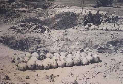 Một trong những bức ảnh tố cáo tội ác Khmer Đỏ. Ảnh tư liệu