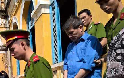 Bị cáo Dương Thanh Cường sau phiên tòa sơ thẩm hồi tháng 6 vừa qua