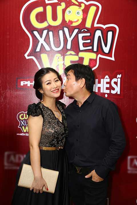 Khoảnh khắc vui vẻ và hạnh phúc của đôi vợ chồng nghệ sĩ hài Mai Sơn - Kiều Linh.