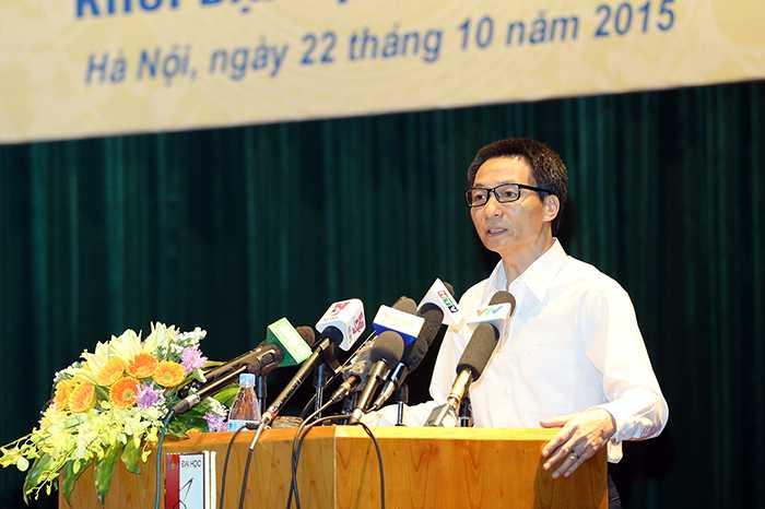 Phó Thủ tướng Vũ Đức Đam nhấn mạnh giáo dục đại học Việt Nam phải đi theo xu hướng của thế giới